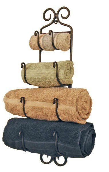 4 Tier Rustic Black Wrought Iron Wall Mounted Towel Rack Wrought Iron Towel Rack Wall Mounted Towel Rack It Towel Rack Bathroom Bath Towel Racks Towel Rack