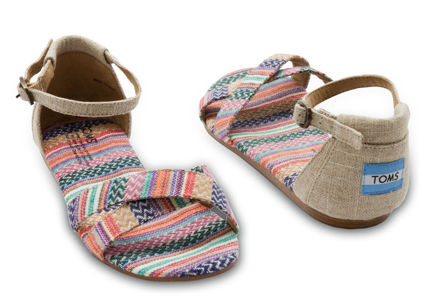 ef6a9c9955e4 TOMS Mixed Woven Burlap Vegan Women s Correa Sandals- perfect for that  beach trip down to Mexico.