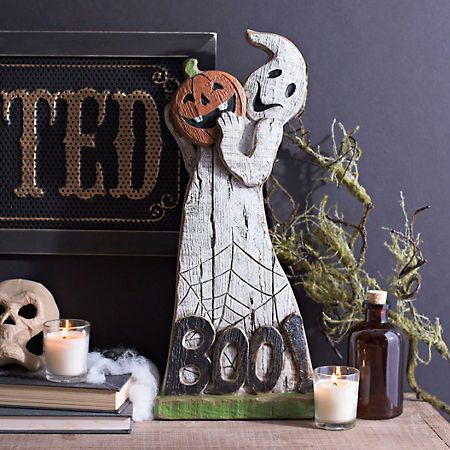 Boo Ghost Statue Boo ghost, Halloween displays and Halloween halloween - halloween statues