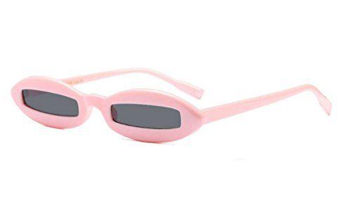 7534a3644c3 Narrow Sunglasses Small Designer Glasses Fashion Oval Frame Rectangle  Lenses Oval Frame