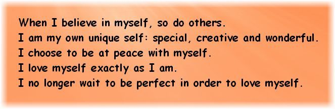 Positive Affirmations For Self Esteem Httpspiritualcoach