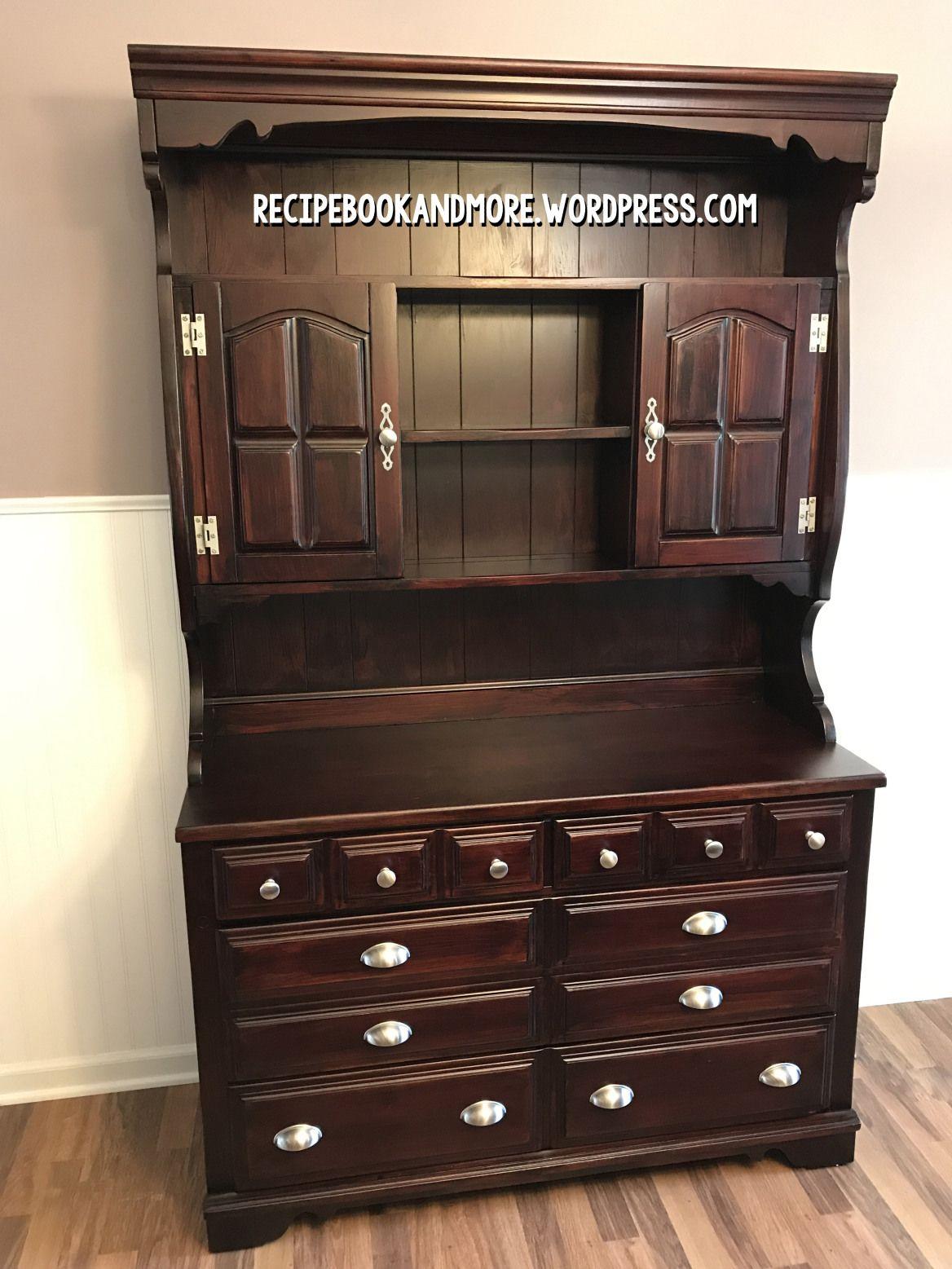 DIY Hutch Makeover. Stain FurnitureHutch Makeover. How To Stain Furniture  Darker ...