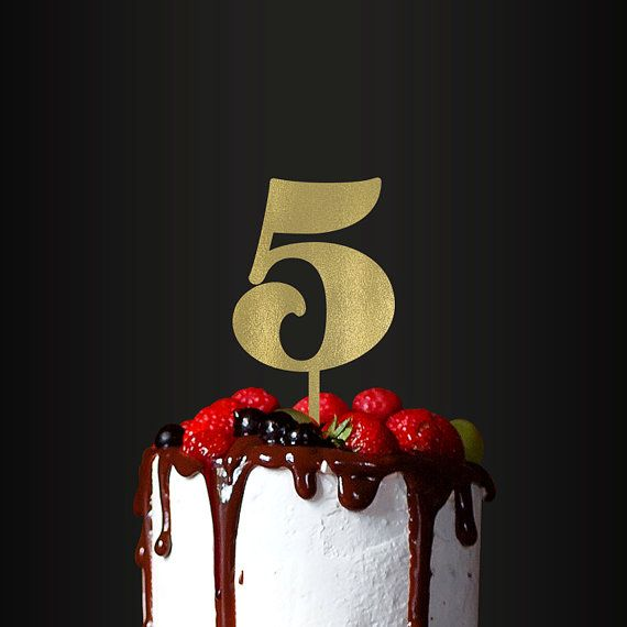 Birthday Cake Topper Number 5 By TheCakeMate On Etsy