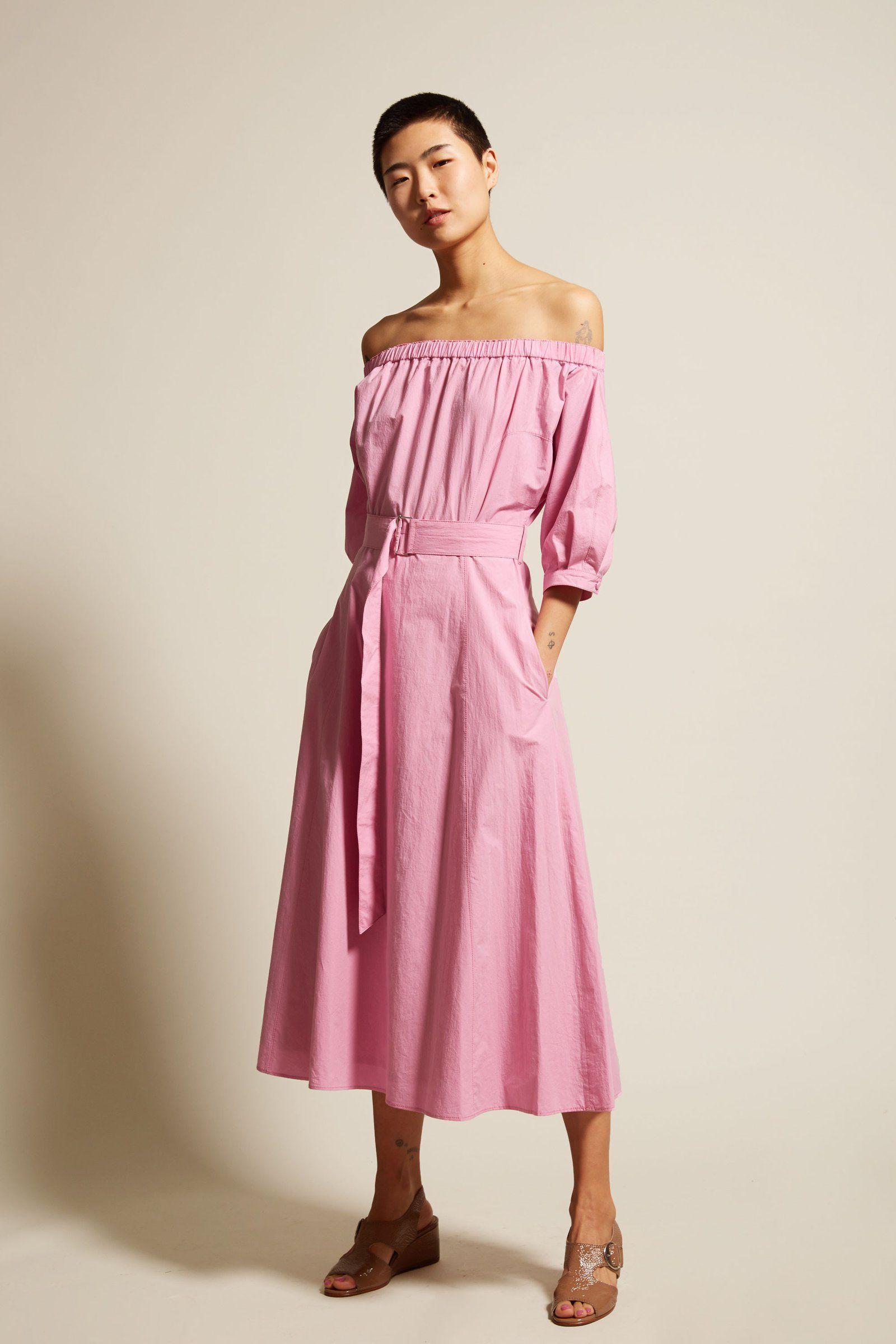 Sayaka Davis Off-Shoulder Dress in Barragan Pink | My Style | Pinterest