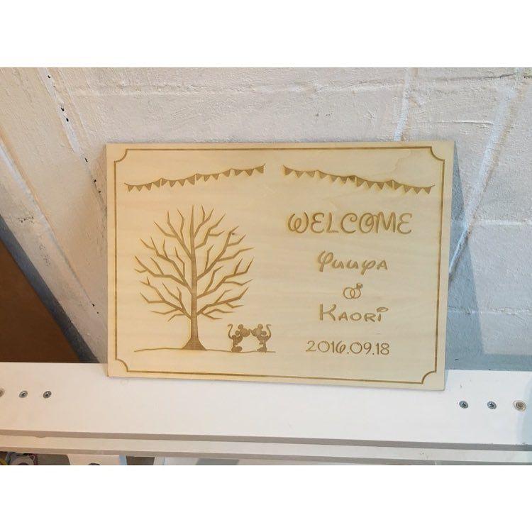 結婚式後もお家のインテリアにしやすいウェルカムボードのデザイン