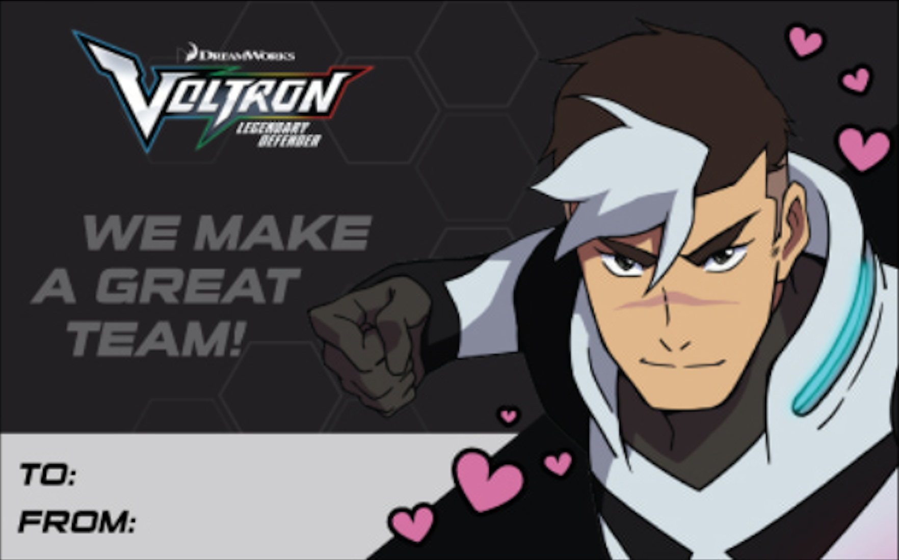 Shiro S Valentine S Day Card From Voltron Legendary Defender