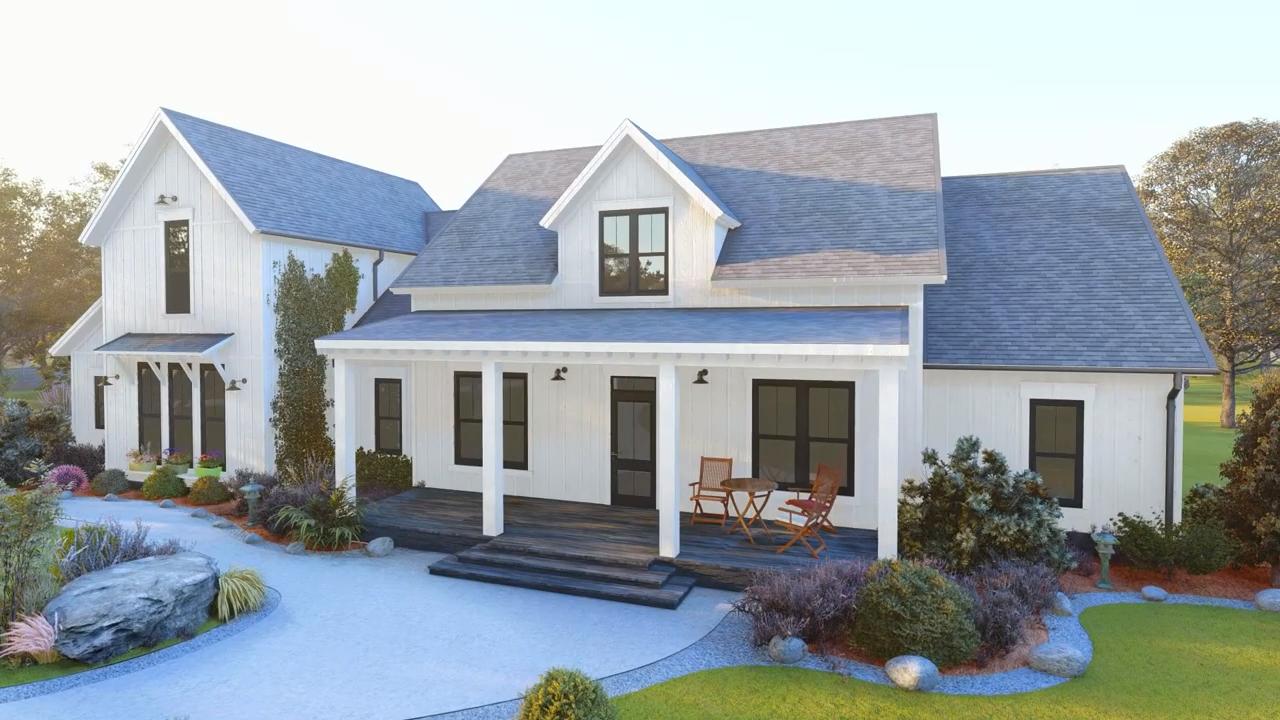 Modern Farmhouse 041-00169 #modernfarmhouseexterior
