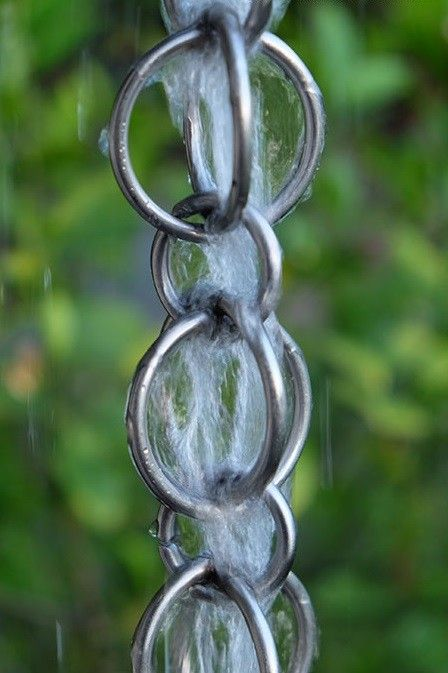 316 L Stainless Steel Double Loops Design With Small Loop In Between Custom Lengths Available Free Shipping Rain Chain Rain Chain Installation Rain Chain Diy