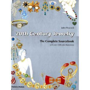 20th Century Jewelry -The Complete Sourcebook - by John Peacock - Thames & Hudson 2002 - 144pp  --  over 1500 color illustrations (DRAWINGS, NOT PHOTOGRAPHS !) - illustrated pieces reflect a rich variety of motifs & stylistic approaches: bold geometric forms, floral designs, whimsical characters, religious iconography, etc. Also includes a section w/ short biographies of designers & companies ,like Boucher & Cie, Hattie Carnegie, Faberge, Rene Lalique, Paloma Picasso, Swarovski, ...