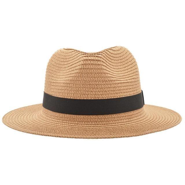 Classic Straw Fedora Style Sun Hat i 2019  1e92a6d1882f