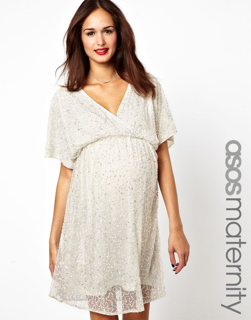 f6390c3d186ea Short and Sweet | BBY | Maternity dresses, Kimono dress, Asos maternity