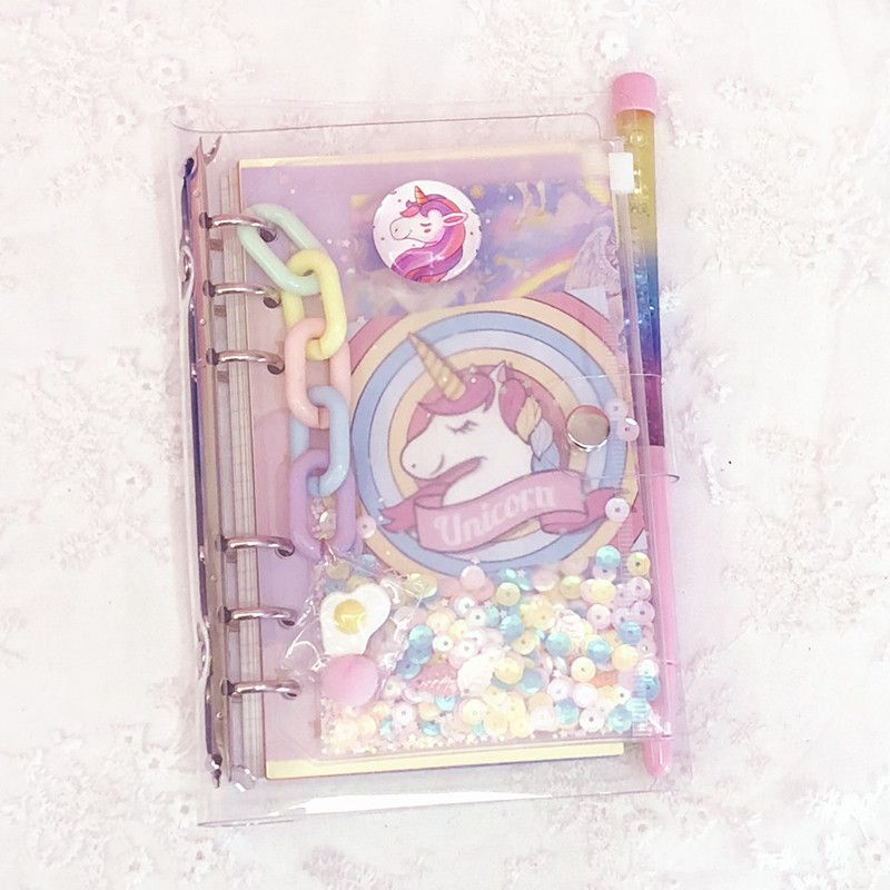 Kawaii Unicorn Notebook Diary with Stickers and Accessories - Unicorn planner, Kawaii unicorn, Cute diary, Kawaii planner, Cute notebooks, Unicorn -