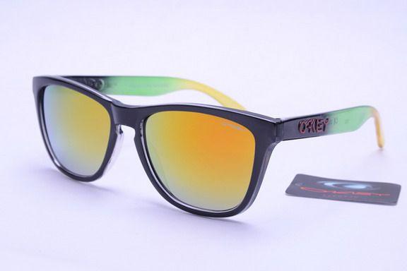 4192556ab3 Knockoff Oakley Frogskins Glasses For sale Orange Green Black Frame  Colorful Lens