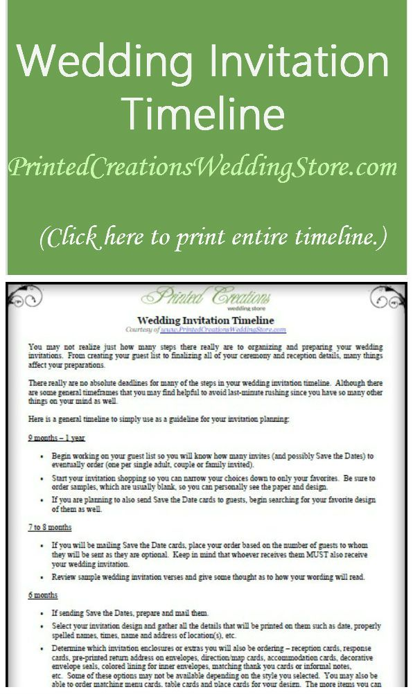 Use This Wedding Invitation Timeline As A Handy Guideline In Your