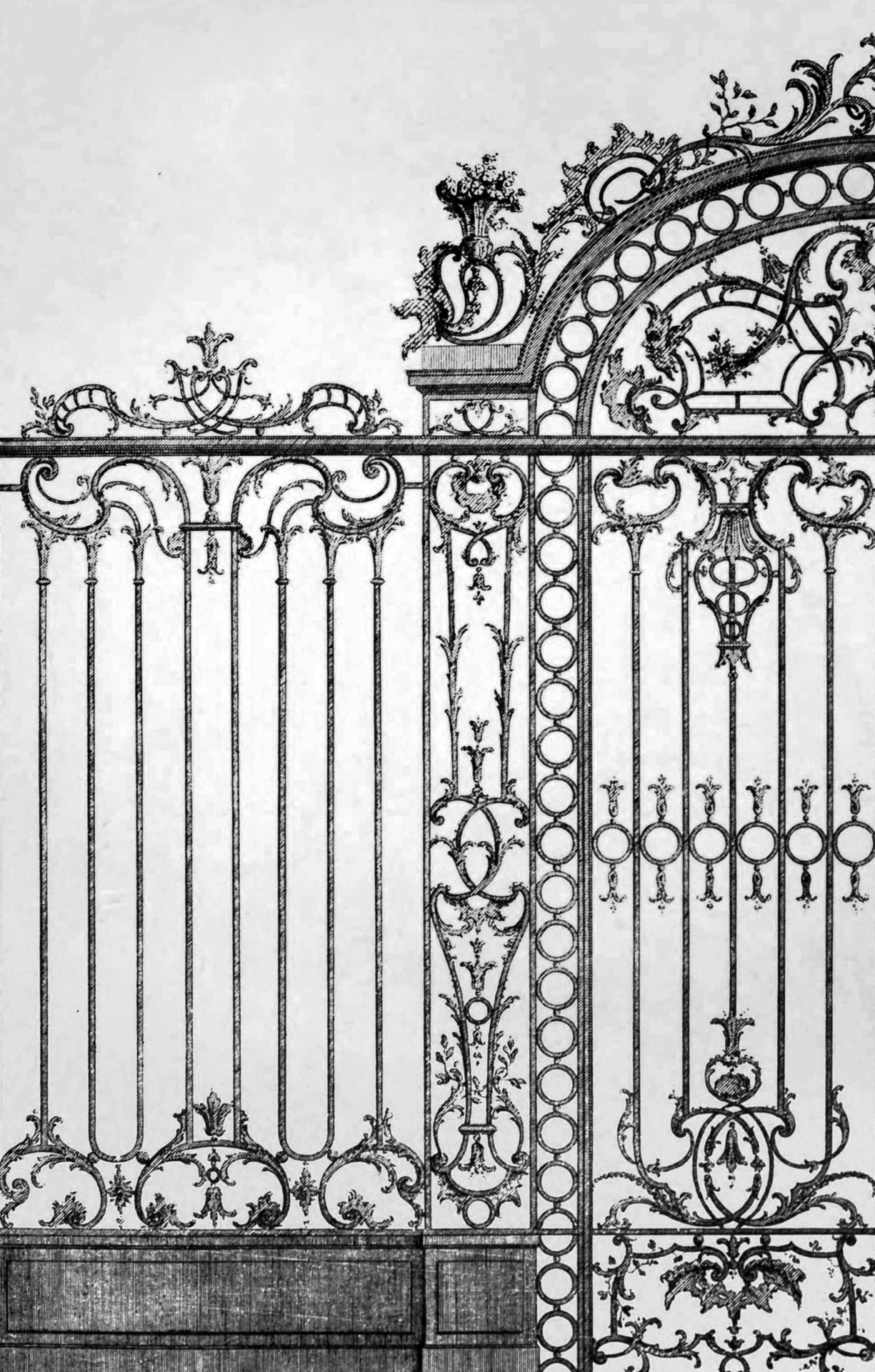 Jean-Charles Krafft - Homes and hotels in Paris (1909). [x] > Wrought iron work by François de Cuvilliés the Elder.