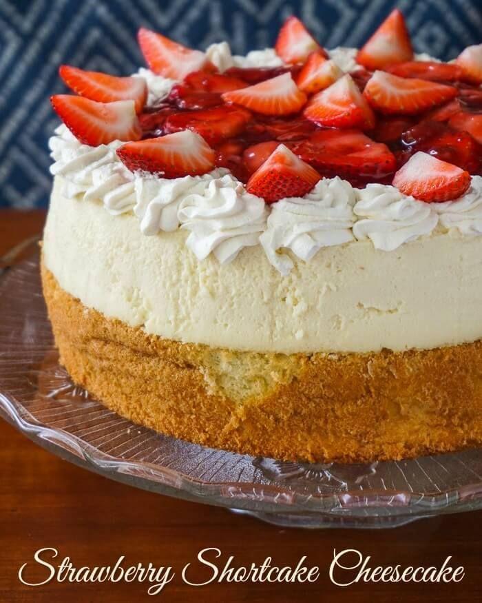Strawberry Shortcake Cheesecake - The ultimate strawberry dessert!