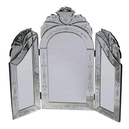 ACHICA | Etched Dressing Table Mirror