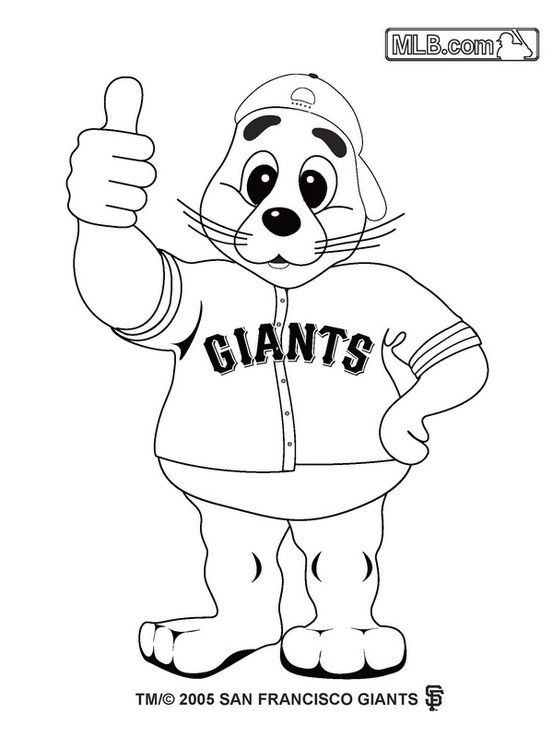 Giants baseball coloring for kids | Coloring For Kids | Pinterest ...