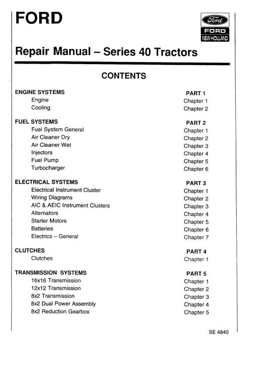 Ford 5640 6640 7740 Tractor Service Manual Tractors Repair Manuals Fiat
