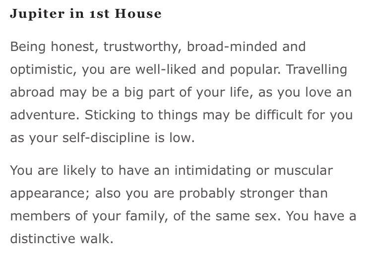 Jupiter in 1st House | Astrology | Astrology, Ferdinand, House