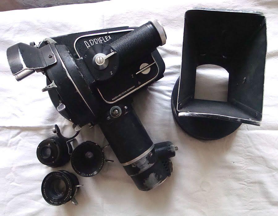 35mm Arriflex II C Film Camera w/ 3 Cine-Xenon Lenses and Lens Hood