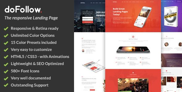 doFollow Responsive Landing Page Template Template and Website