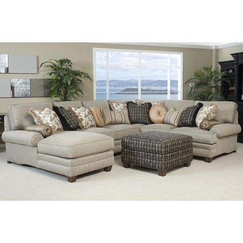 Smith Brothers 375 Traditional Styled Sectional Sofa with ...