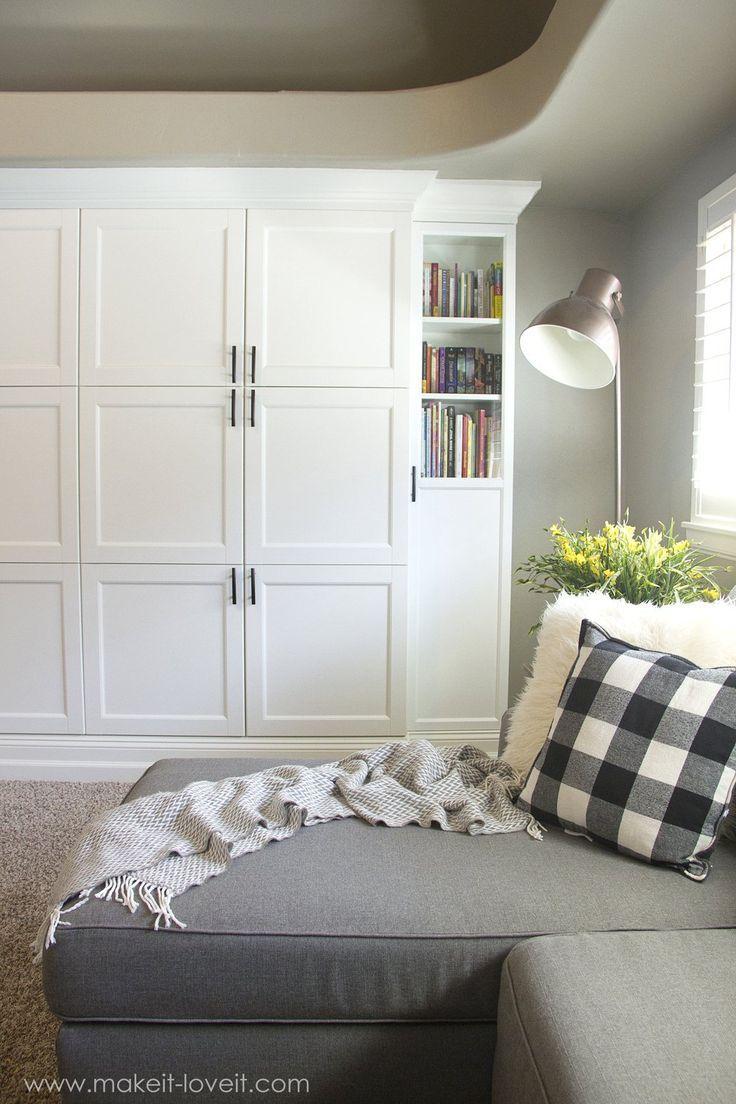 How to Turn IKEA Bookshelves into CUSTOM BUILT-INS   Make It and ...