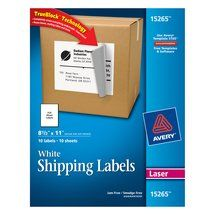 Avery White Shipping Labels with TrueBlock Technology 15265