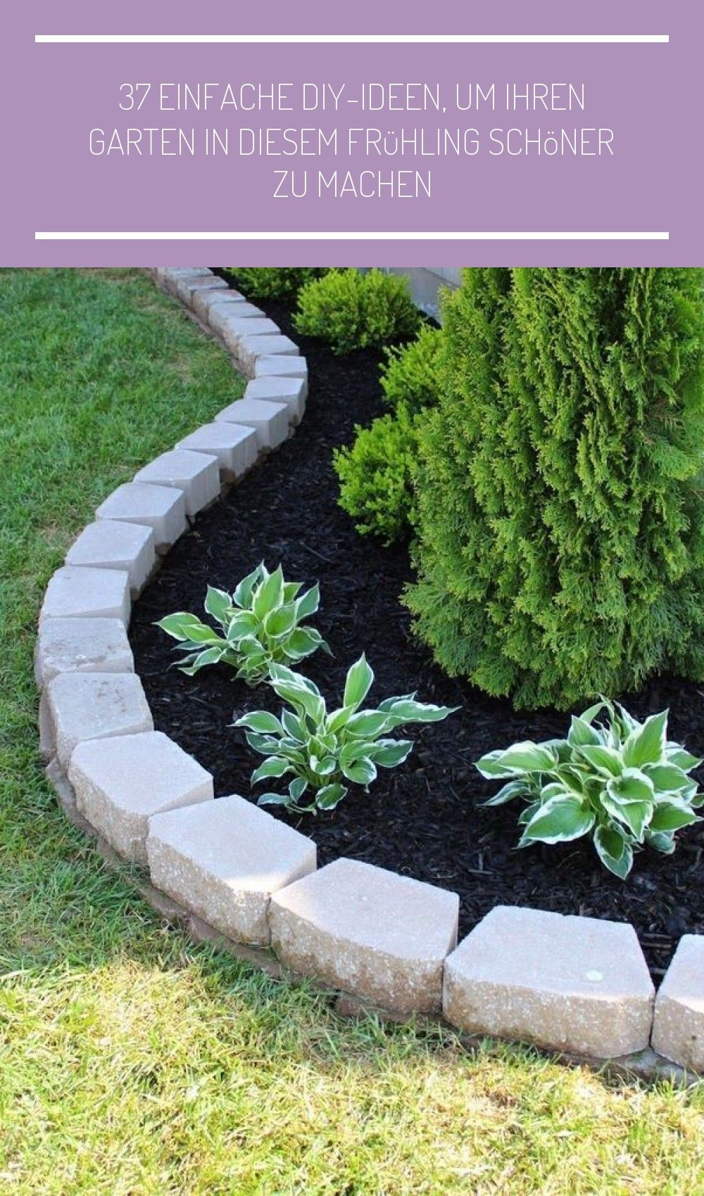 37 Einfache Diy Ideen Um Ihren Garten In Diesem Fruhling Schoner Zu Machen Diesem Easydiy Einf Small Front Gardens Landscaping With Rocks Easy Landscaping