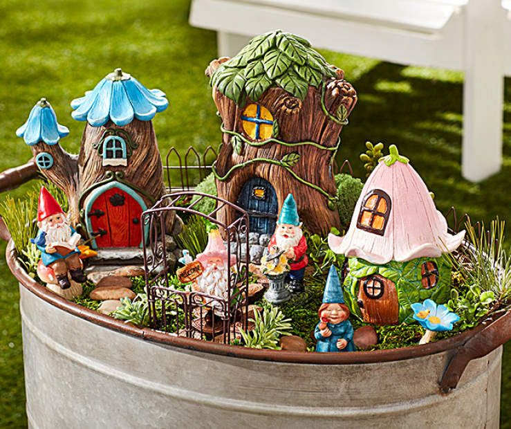 I Found A Mystical Moments Fairy Garden Collection At Big Lots For