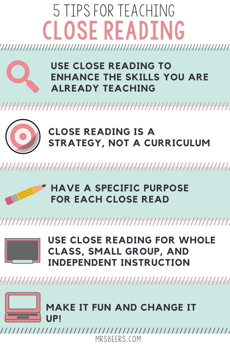 5 Tips for Teaching Close Read...