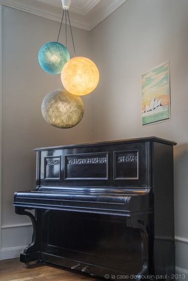 suspension triple la case du cousin paul beach house pinterest luminaires suspension et. Black Bedroom Furniture Sets. Home Design Ideas