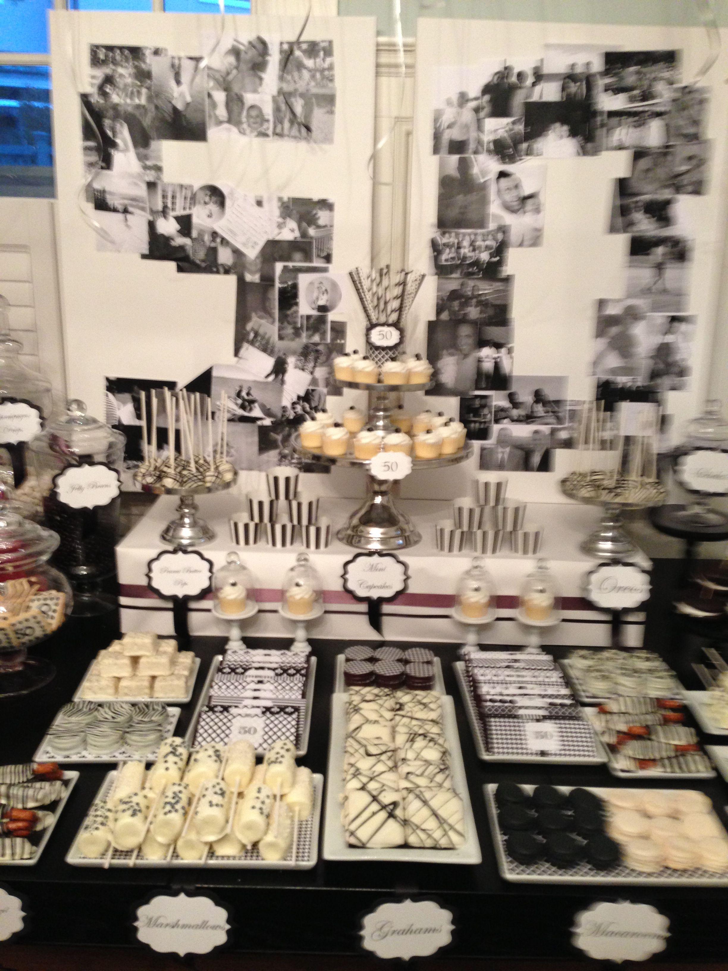 Klik Parties 50th Bday Dessert Table Dessert Table