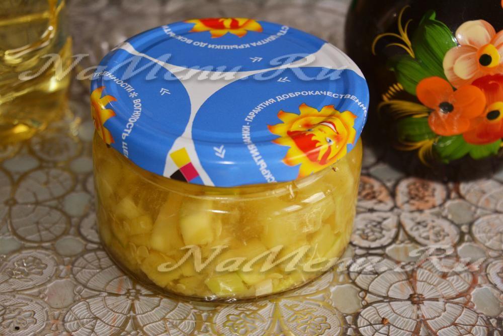 салат из кабачков с чесноком на зиму рецепты с фото