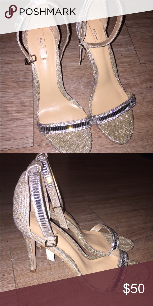 fc9a17ec887 HOST PICK ✨ Aldo Gold Sparkly Jeweled Stilettos . Aldo Shoes Heels ...