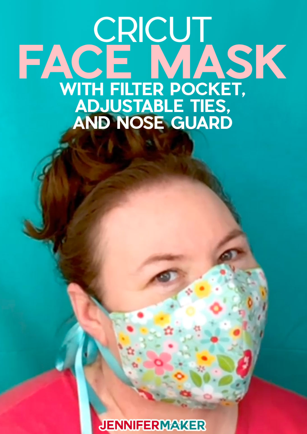 DIY Face Mask Patterns Filter Pocket & Adjustable Ties