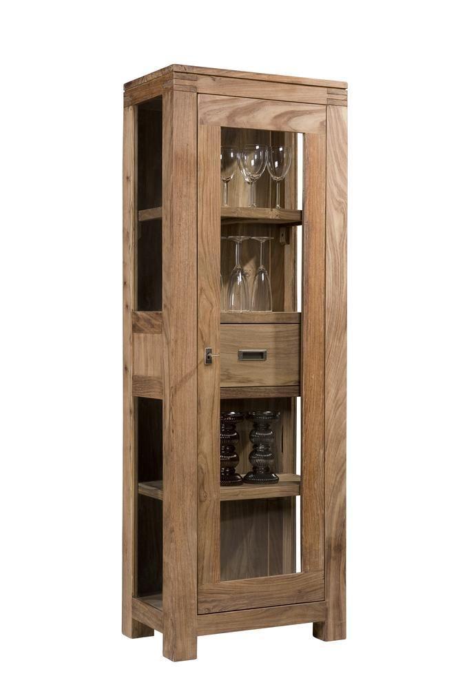 Batamba armoire vitrine une porte un tiroir