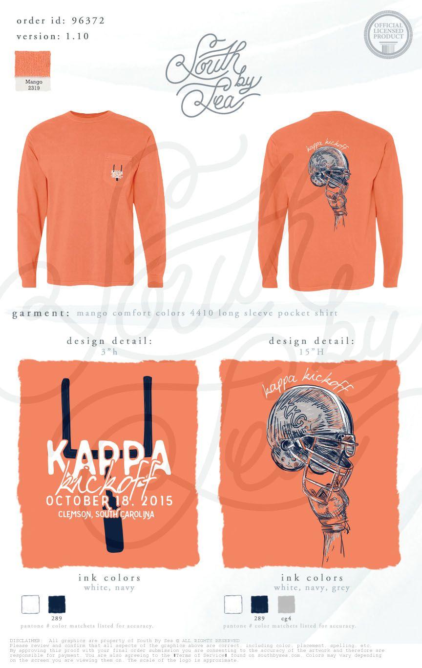 Kappa Kickoff   Kappa Kappa Gamma   Football Tee Shirt Design Pinterest:  @annahpyra