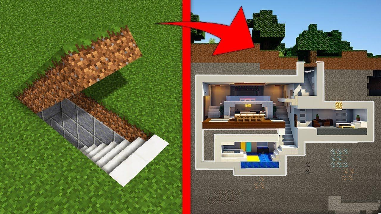 Minecraft Comment Construire Une Base Secrète Moderne