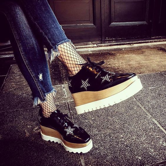 Showcase the star in you with Stella McCartney's eye-catching Derby shoes.