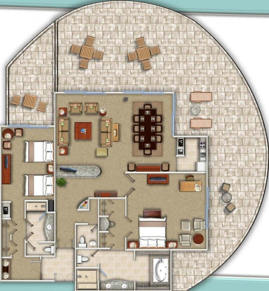 Charming Do It Yourself : Floor Plans In Designing A House : Mesmerizing Suite  Floorplans Ideas With Two Large Bedroom With Inside Bathroom As Well A..
