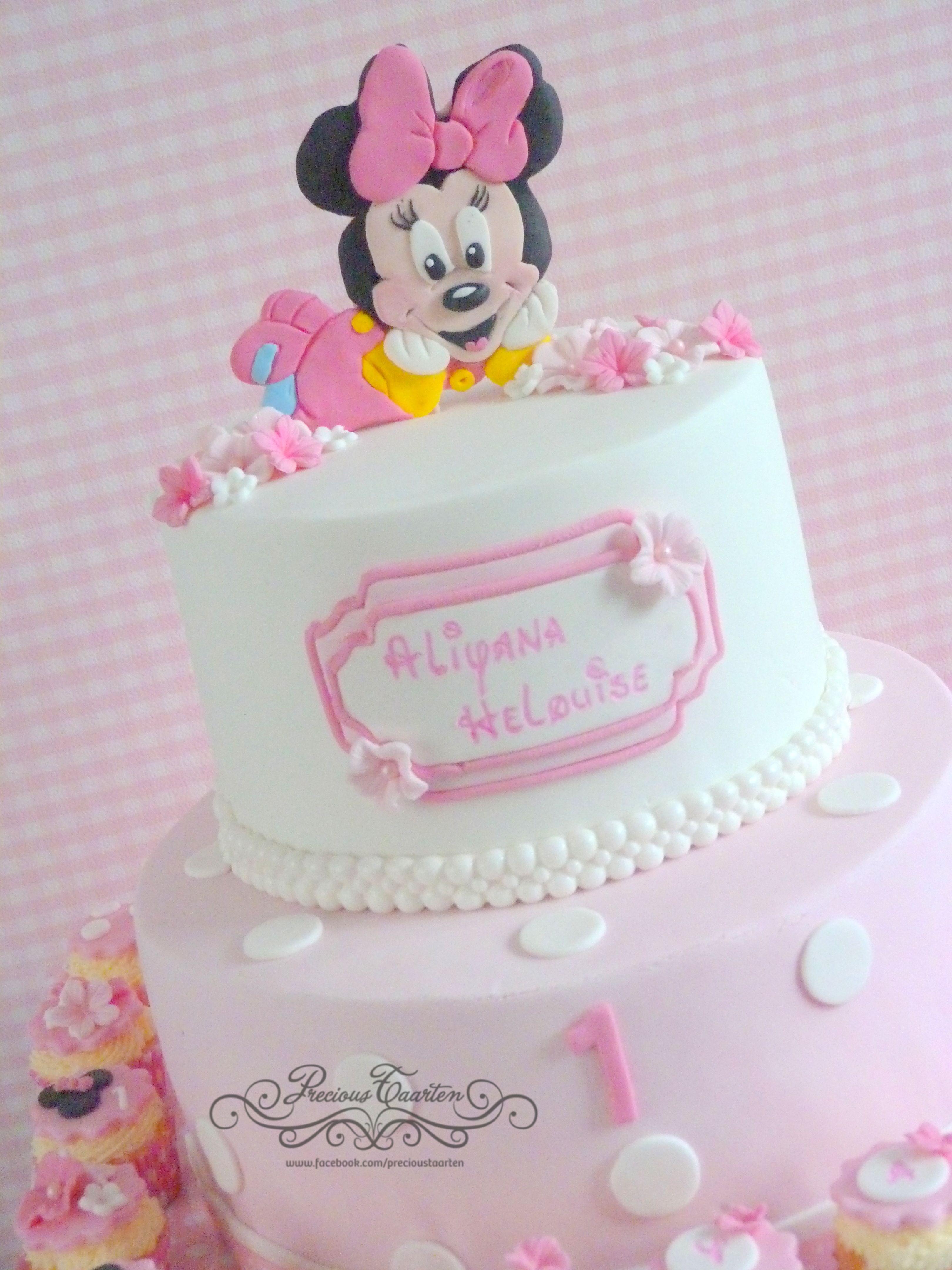 Baby Mini Mouse cake. www.facebook.com/precioustaarten