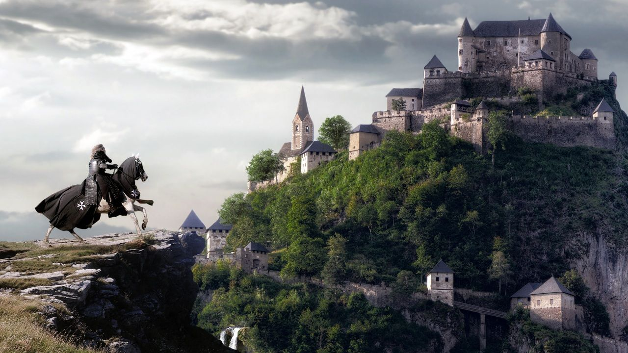 Wallpapers Knight Horses Castles Middle Ages Fantasy Image 407306 Download Fantasy Castle Fantasy Images Middle Ages Fantasy