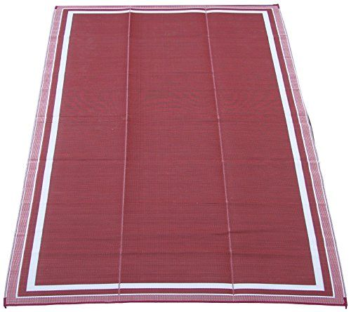 Fireside Patio Mats Cranberry Sunrise 9 Ft. X 12 Ft. Polypropylene  Indoor/Outdoor