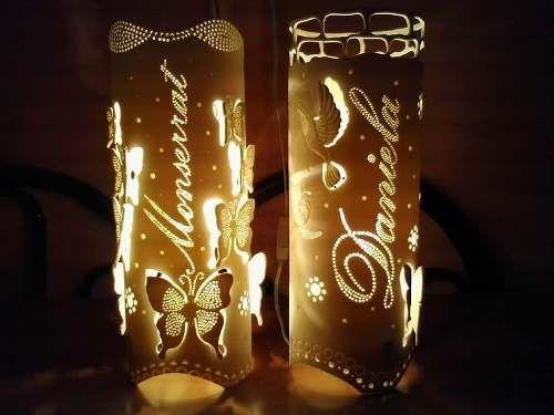 lamparas en pvc