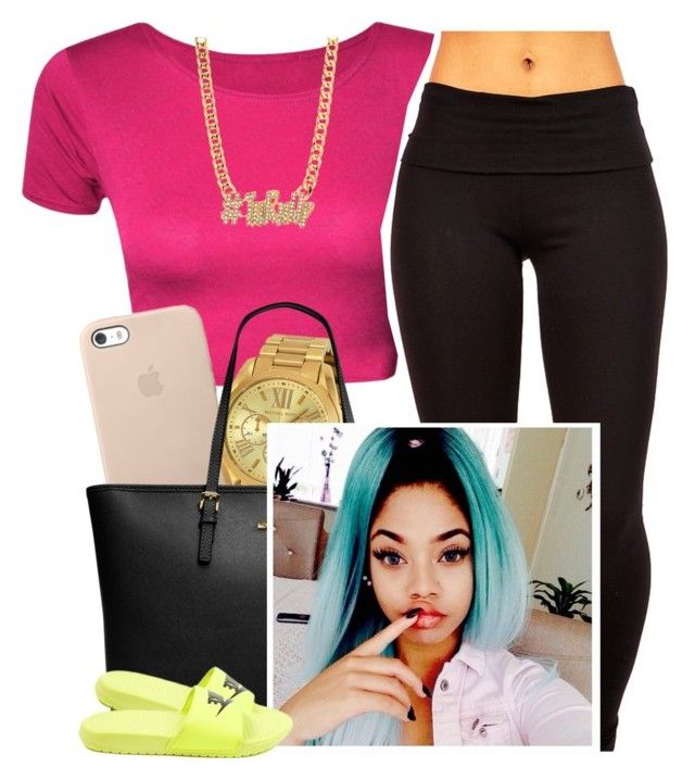 """""""✨"""" by newtrillvibes ❤ liked on Polyvore featuring Michael Kors, MICHAEL Michael Kors and NIKE"""