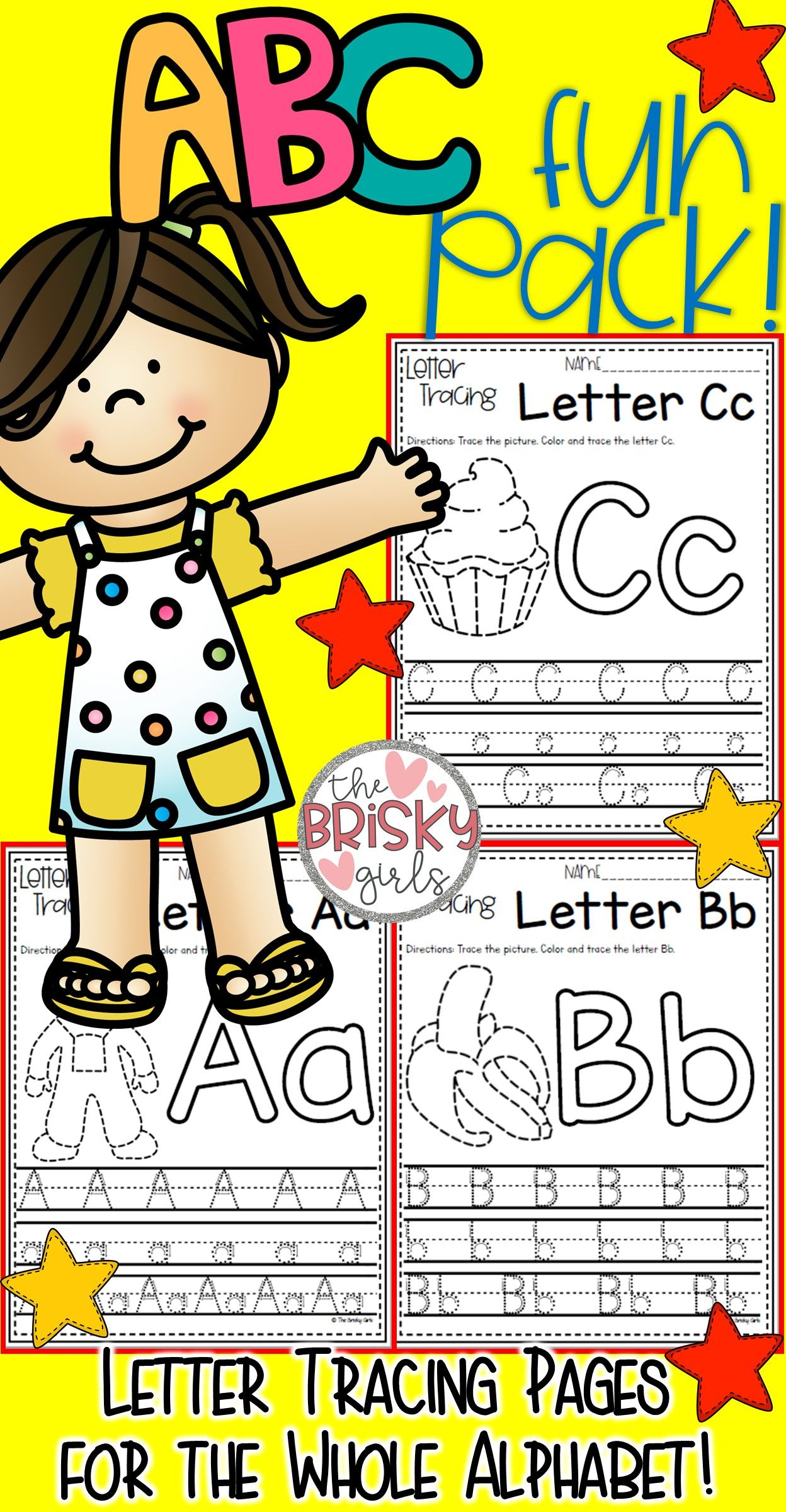 Back To School Alphabet Activities Letter Tracing Take Home