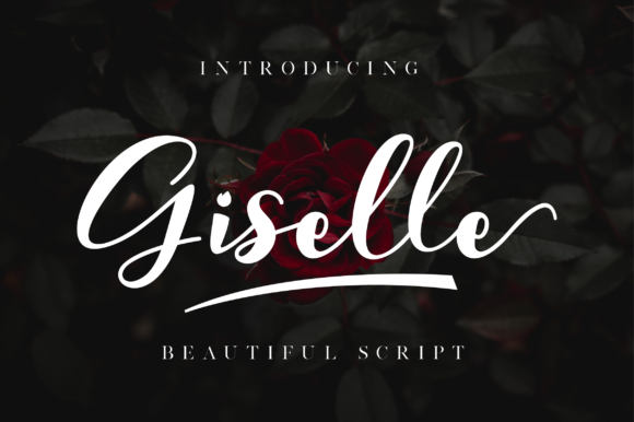 Giselle Beautiful script fonts, Instagram font