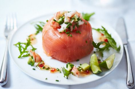 Smoked salmon and prawn parcels recipe healthy appetizers smoked salmon and prawn parcels tesco real food tesco real food more forumfinder Image collections